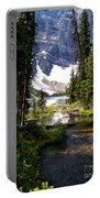 Forest View To Mountain Lake Portable Battery Charger by Greg Hammond