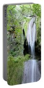 Forest With Waterfall Portable Battery Charger