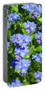 Forget Me Not Macro Portable Battery Charger