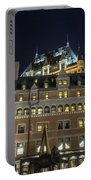 Fort  Of Quebec City At Night Portable Battery Charger
