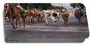 Fort Worth Cattle Drive Portable Battery Charger