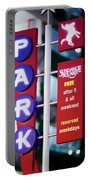Fort Worth Parking Sign Digital Oil Paint Portable Battery Charger