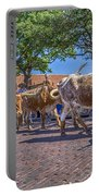 Fort Worth Stockyards Longhorn Drive Portable Battery Charger