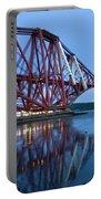 Forth Railway Bridge In Edinburg Scotland  Portable Battery Charger