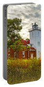 Forty Mile Point Lighthouse Lake Huron Lower Peninsilat Mi  Portable Battery Charger