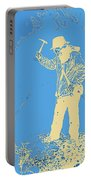 Fossil Hunter Blue Yellow Portable Battery Charger