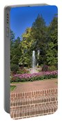 Fountain Among Flowers Portable Battery Charger