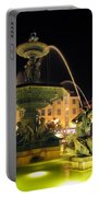 Fountain In Rossio Square Portable Battery Charger