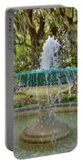 Fountain In Savannah Portable Battery Charger