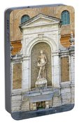 Fountain In The Vatican City  Portable Battery Charger