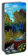 Fountain Of Flowers Portable Battery Charger