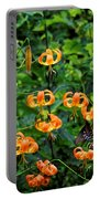 Four Butterflies On Turks Cap Lilies Portable Battery Charger