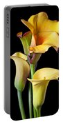 Four Calla Lilies Portable Battery Charger
