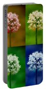 Four Colorful Onion Flower Power Portable Battery Charger