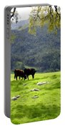 Four Cows At Nojoqui Ranch Portable Battery Charger