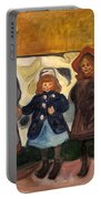 Four Girls In Asgardstrand Portable Battery Charger