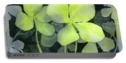 Four Leaf Clover Watercolor Portable Battery Charger