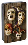 Four Masks Portable Battery Charger