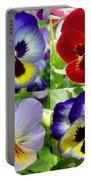 Four Pansies Portable Battery Charger