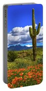 Four Peaks And Poppies, Springtime, Arizona Portable Battery Charger