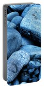 Four Rocks In Blue Portable Battery Charger
