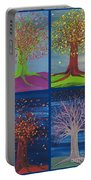 Four Seasons Trees By Jrr Portable Battery Charger
