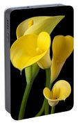 Four Yellow Calla Lilies Portable Battery Charger