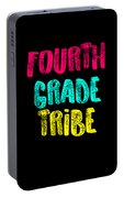 Fourth Grade Tribe Light Fourth Grade 4th Teacher Appreciation Gift Cute Portable Battery Charger