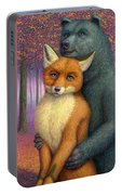 Fox And Bear Couple Portable Battery Charger