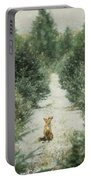 Fox In The Flurries Portable Battery Charger