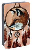 Fox Medicine Wheel Portable Battery Charger by Brandy Woods