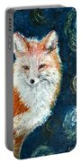 Fox Red  Painting  Portable Battery Charger