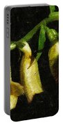 Foxglove On Wood Panel Portable Battery Charger