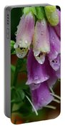 Foxgloves In The Rain Portable Battery Charger