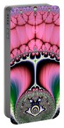 Fractal 19 Strutting Peacock Portable Battery Charger