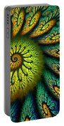 Fractal Abstract 061710 Portable Battery Charger