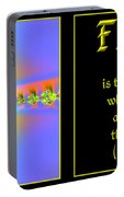 Fractal Faith Hebrews 11 Portable Battery Charger