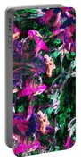 Fractal Floral Riot Portable Battery Charger