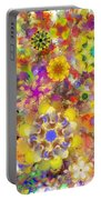 Fractal Floral Study 2 Portable Battery Charger