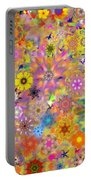 Fractal Floral Study 3 Portable Battery Charger