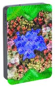 Fractal Flower Garden Portable Battery Charger