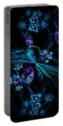 Fractal Forget Me Not Bouquet  Portable Battery Charger