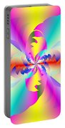 Fractal Rainbow Portable Battery Charger