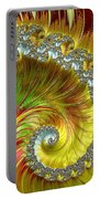 Fractal Spiral Three Portable Battery Charger