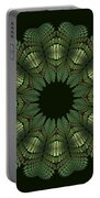 Fractal Wreath-32 Spring Green T-shirt Portable Battery Charger