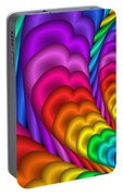 Fractalized Colors -10- Portable Battery Charger by Issabild -