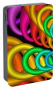 Fractalized Colors -5- Portable Battery Charger by Issabild -