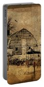 Fragmented Barn  Portable Battery Charger by Julie Hamilton