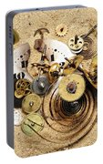 Fragmented Clockwork In The Sand Portable Battery Charger