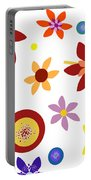 Fragrant Folly White Portable Battery Charger
